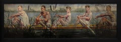 [Bruce Sargeant (1898-1938)] Five Rowers Gliding Through Cattails