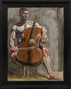 [Bruce Sargeant (1898-1938)] Cellist Practicing at Home
