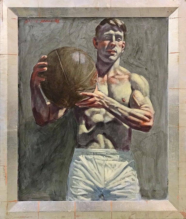 [Bruce Sargeant (1898-1938)] Benjamin Holding Medicine Ball
