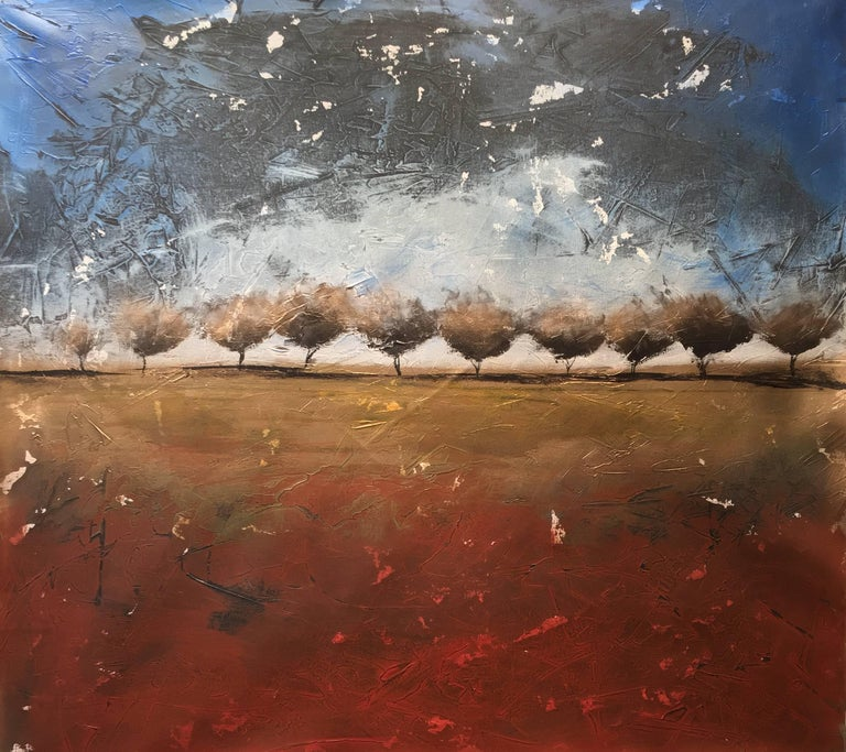 """""""Back To Beginning"""" Acrylic Mid Century Modern Landscape by Shane Townley"""