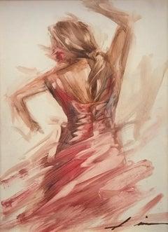 Figurative. Flamenco dancer