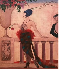 Figurative painting that remember the Belle epoque style