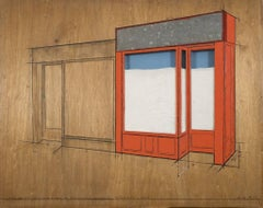 Christo and Jeanne-Claude, Store Front, Project, Orange, 1964-65