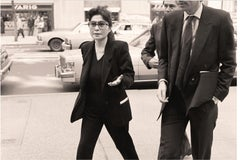 Yoko Ono and Guest, 1987, Photograph Andy Warhol's Memorial Service, Black White