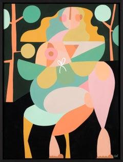 Liselotte Watkins, Seduto, Colorful Abstract Figurative Painting, 2017