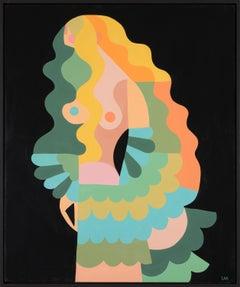 Liselotte Watkins, Pavone, 2017, Abstract Figurative Painting
