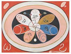 Hilma af Klint, Group IV, no 15. Evolution Series WUS, Seven Pointed Star, Rug