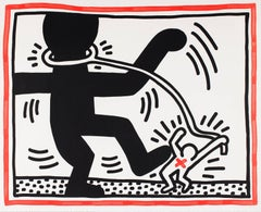 Free South Africa - signed lithograph, Pop art, 20th century, by Keith Haring