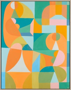 Doppio - Colorful Abstract Painting, Contemporary, by Liselotte Watkins