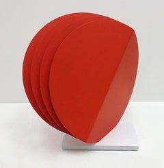 Four Round Red Shapes