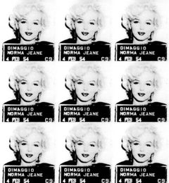 Marilyn Monroe Mugshot - Limited Edition Print on Canvas