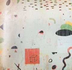 Plaza/Metamorphosis - Original mixed media on canvas - 42 x 48 in.