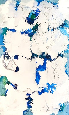 Electric Blue III - Original on Canvas