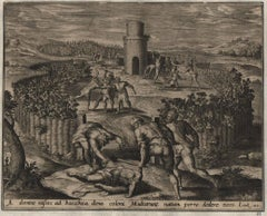 Parable of the Vineyard - 1585 Old Master Engraving Religious