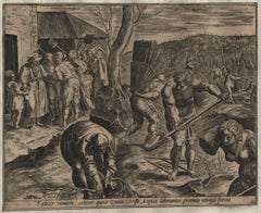 Workers in the Vineyard - 1585 Old Master Engraving Religious