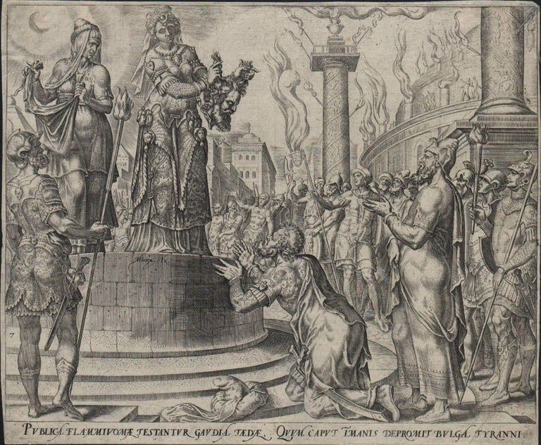 Judith and Holofernes - 1564 Old Master Engraving Religious