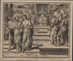 St. Peter and St. Paul Dismissed - 1558 Old Master Engraving Religious