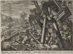 The Story of Samson - 1643 Set of 7 Plates - Old Master Engraving Landscape