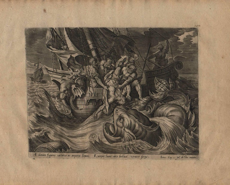 The Story of Jonah - 1585 Complete Set of 4 Plates - Old Master Engraving For Sale 1