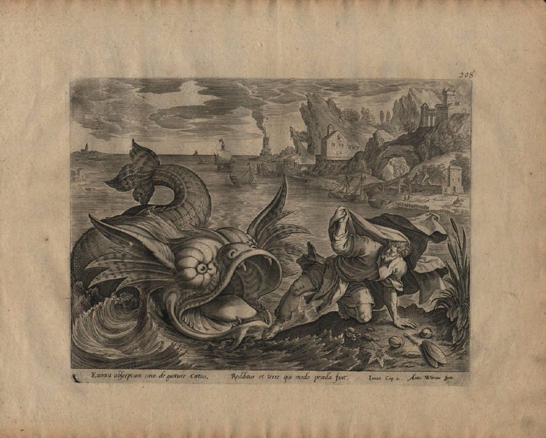 The Story of Jonah - 1585 Complete Set of 4 Plates - Old Master Engraving For Sale 4