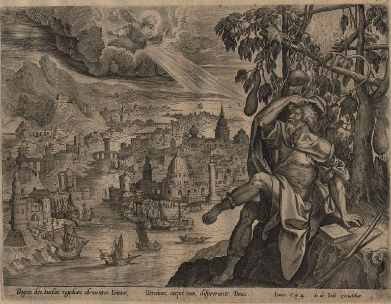 The Story of Jonah - 1585 Complete Set of 4 Plates - Old Master Engraving For Sale 5