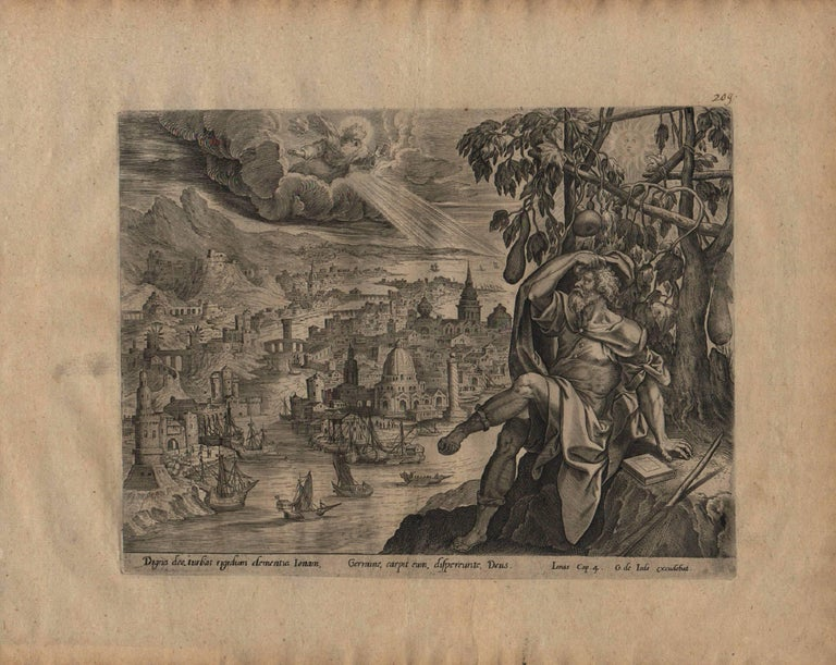 The Story of Jonah - 1585 Complete Set of 4 Plates - Old Master Engraving For Sale 6