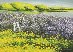 """Flower Field"" 21st century landscape contemporary painting scenery flowers"