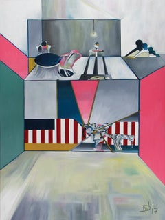 The American Series - Butcher Table Blues by Thomas Dowdeswell Abstract Art
