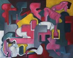 Gathering by Thomas Dowdeswell Contemporary 21st Century British Artist
