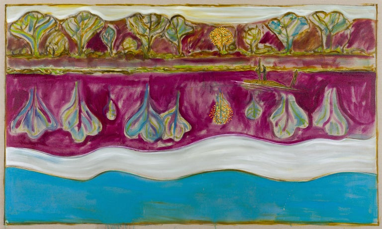 Billy Childish Figurative Painting - this strange world of plants, and water, and silence