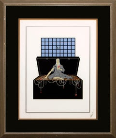 "Erté Framed Limited Edition Hand-Signed Serigraph ""Avarice"" (Seven Deadly Sins)"
