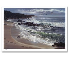 """""""Wet Sand and..."""" Limited Edition Hand-Signed Seascape by Violet Parkhurst"""