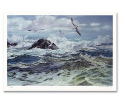 """""""Play at Noonday"""" Limited Edition Hand-Signed Seascape by Violet Parkhurst"""