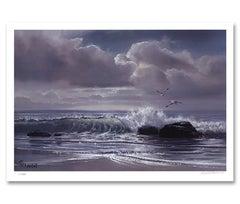 """Moonflight"" Limited Edition Hand-Signed Seascape by Violet Parkhurst"