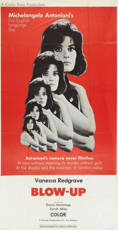 BLOW-UP - CLASSIC - ICONIC - DAVID BAILEY - VINTAGE - VANESSA REDGRAVE  - POSTER