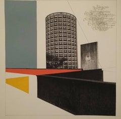 TOWER, SLAB AND CLOUD, BILLINGHAM - BRUTALIST - MODERNIST - ARCHITECTURE