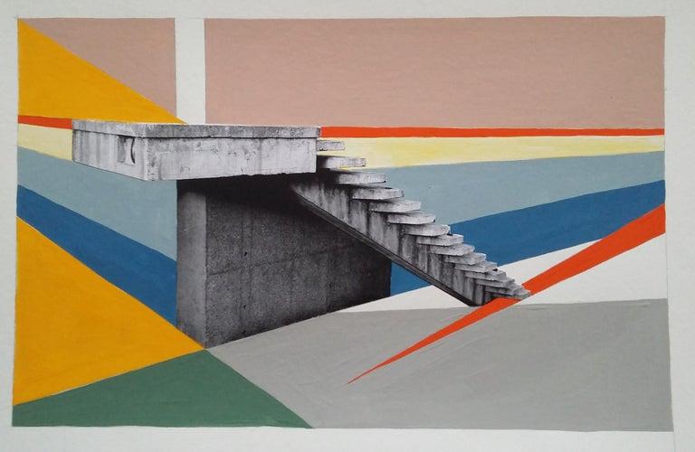 PAVILION STEPS - BRUTALIST - MODERNIST - ARCHITECTURE - STAIRCASE