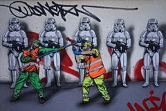 STAR SWEEPERS - CONTEMPORARY PHOTOGRAPHY - COLOUR PHOTOGRAPH - GRAFFITI
