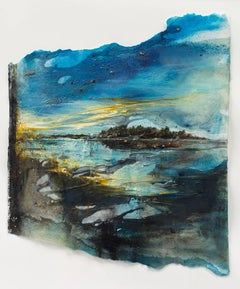 Islands IV: a textural, Swedish landscape, with blues reflecting water and sky