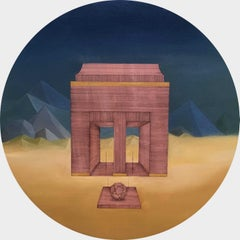 Beyond What We Know: Round Perspective Drawing/Painting about Imaginary Spaces