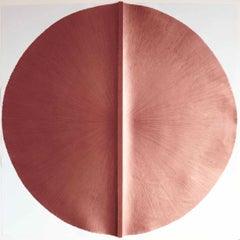Solid Rod VI: Large, Metallic, Copper Painting by Established Spanish Artist