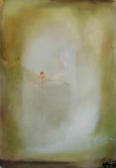 Mou Os: Large minimal contemporary oil painting on linen, reminiscent of Turner