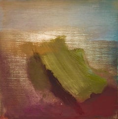 Move Brood: Small minimal oil painting on board, reminiscent of Turner