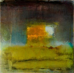 Miss Able: Minimal Oil Painting on Board, reminiscent of Turner