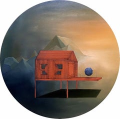 Placement: Round Perspective Drawing/Painting about Imaginary Spaces