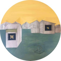Illusion of Control: Round Perspective Drawing/Painting about Imaginary Spaces