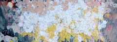 Swarm (Gran Sasso) 4: Painting of White Butterflies in flight by Sara Dudman RWA