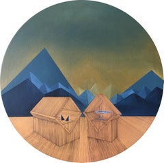 Imitation of Reality: Round Painting about Imaginary Spaces by Joella Wheatley