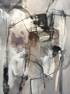 Work on Paper LP17: Abstract Landscape Oil Painting by Chris Sims