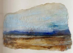 Light and Land II: Postcard-sized painting by Ann-Helen English